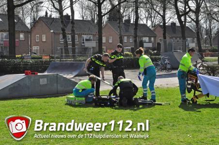 Jongetje gewond na val op skatebaan in Waalwijk