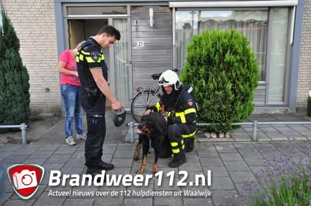 Brandweer redt hond bij keukenbrand in Waalwijk