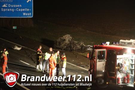 Getuigen: omgekomen bestuurder (25) reed met hoge snelheid en zigzaggend over A59