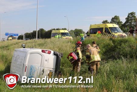 Brandweer rukt uit voor ongeval op de Midden-Brabantweg Waalwijk