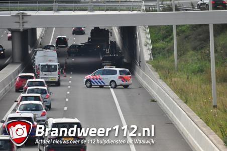 File op de Midden-Brabantweg door ongeval bij Waalwijk