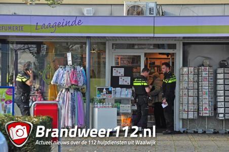 D.I.O. drogist in Waalwijk overvallen; dader met vermoedelijk vuurwapen gevlucht