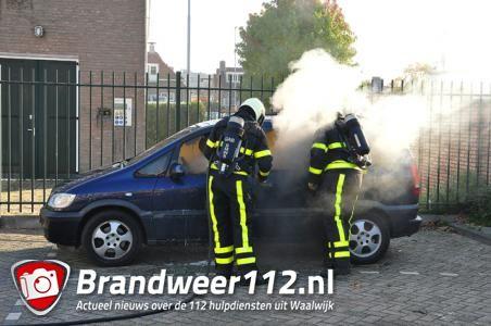 Auto brandt uit in Waalwijk
