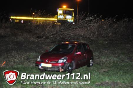 Bestuurder uit Waalwijk (24) drinkt bijna vier keer meer dan is toegestaan en strandt met auto in de berm