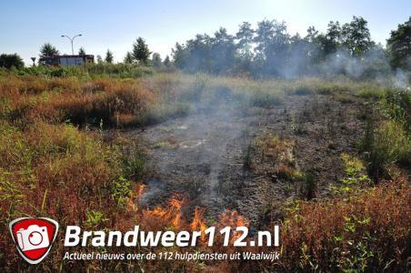 Buitenbrand aan de Noorder-Allee Waalwijk