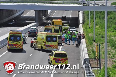 Kinderen gewond bij ongeval op de Midden-Brabantweg Waalwijk