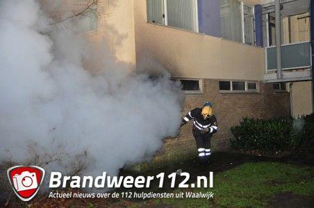 Berging in brand aan de Van Renesse van Baarstraat Waalwijk