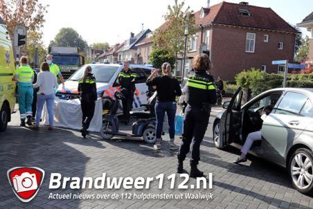 Vrouw in scootmobiel gewond na aanrijding op kruising Meester van Coothstraat Waalwijk