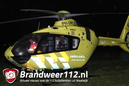 Traumahelikopter landt vanwege incident aan de Looierij Waalwijk
