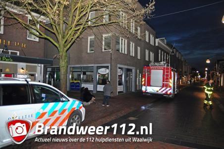Wateroverlast in winkel aan de Grotestraat Waalwijk