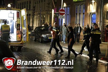 Bloedende agressieve man aangehouden aan de Grotestraat Waalwijk
