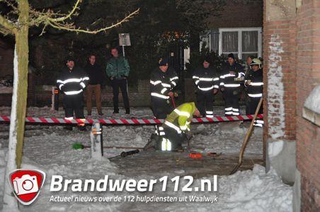 Flinke gaslek aan de Bernhardstraat Waalwijk