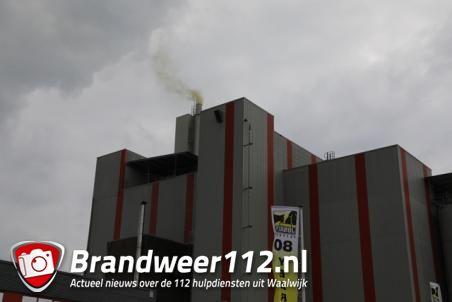 Brand in diervoederfabriek in Waalwijk