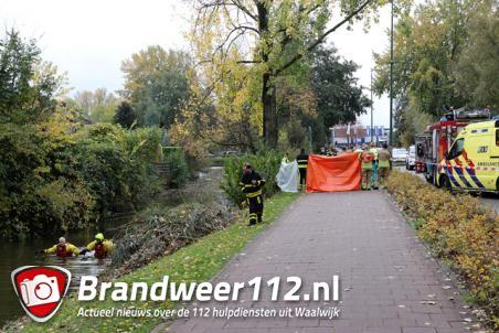 Dode gevonden in sloot aan de Bachlaan Waalwijk
