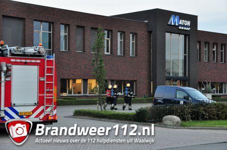 Automatisch brandalarm bij Maton Groep aan de Van Hilststraat Waalwijk