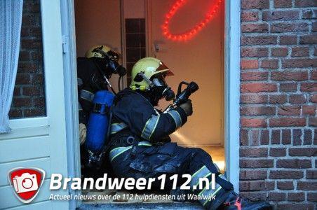 Brandweer oefening aan de Paul Krugerstraat Waalwijk