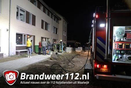 Wasdroger in brand aan de Gerben de Vriesstraat Waalwijk