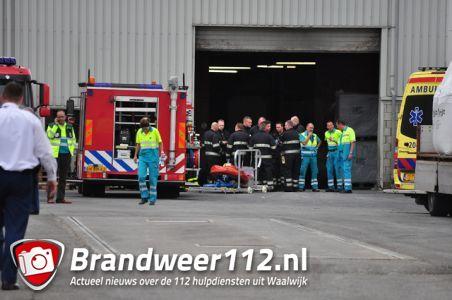 2 doden na instorten muur bij meststoffenbedrijf aan de Industrieweg Waalwijk