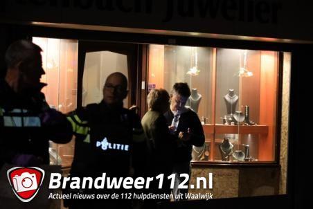 Overval op juwelier in Waalwijk, twee personen vastgebonden