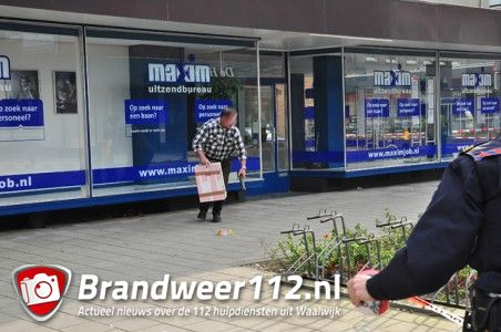 Paniek door verdacht pakketje aan de Grotestraat Waalwijk