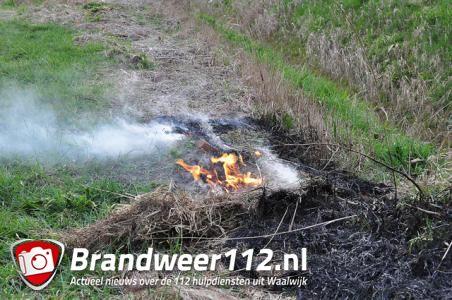Buitenbrandje aan de Weteringweg Waalwijk