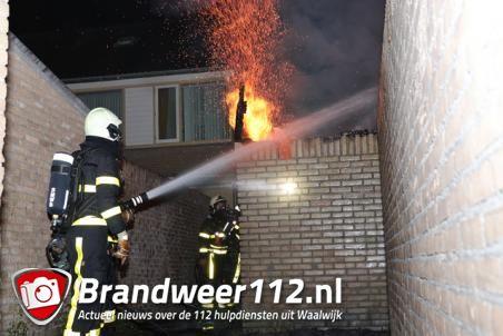 Schuur in brand aan de Sweelinckstraat Waalwijk