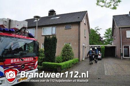 Brandweer rukt uit voor schoorsteenbrand aan de Jan Steenstraat Waalwijk