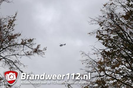 Politiehelikopter op zoek naar vermiste man uit Waalwijk