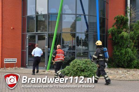 Brandweer rukt uit voor brandalarm aan de Zijlweg Waalwijk