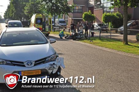 Motorrijder raakt gewond bij botsing met auto Waalwijk