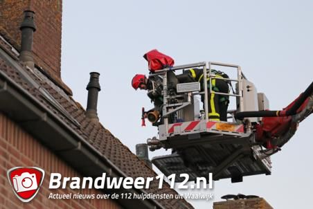 Duif zit ruim 1 uur vast in schoorsteenpijp aan de Touwerij Waalwijk