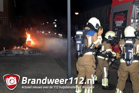 Dozen met papier in brand aan de Cederstraat Waalwijk