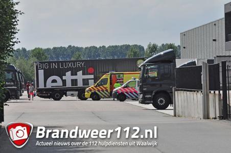 Incident op bedrijfsterrein aan de Gragtmansstraat Waalwijk