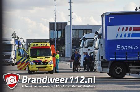 Zwaargewonde bij bedrijfsongeval aan de Spuiweg Waalwijk