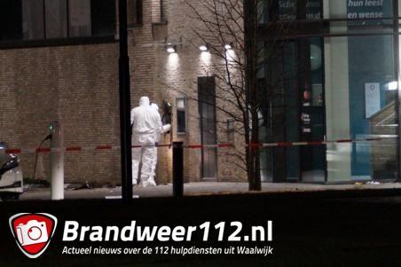 Pinautomaat opgeblazen bij plofkraak op Rabobank in Waalwijk