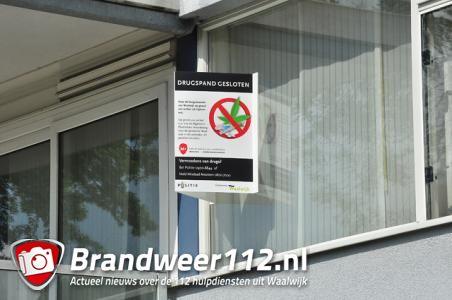 Appartement in Waalwijk drie maanden dicht vanwege hennepkwekerij