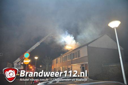 Flinke schoorsteenbrand aan de Mr. van Houtenstraat Waalwijk