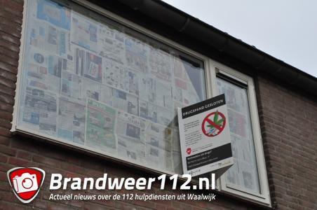 Drugswoning gesloten in Waalwijk