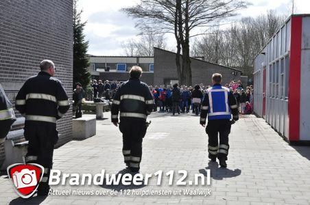 Basisschool De Hoef ontruimd door brand in stopcontact aan de Burg. Teijssenlaan Waalwijk
