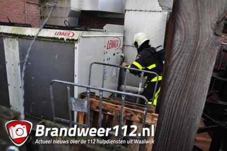 Restaurant 't Slot in Waalwijk ontruimd na brand