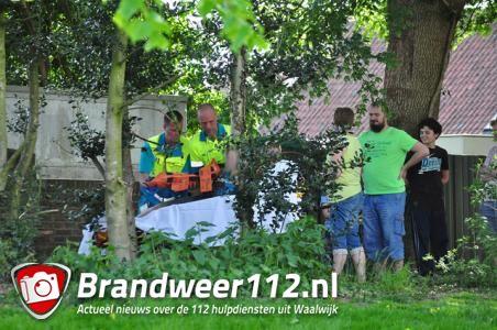 Jongetje raakt gewond na val van hoogte aan de Doelenstraat Waalwijk