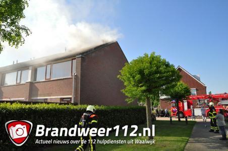 Kleine brand op zolder van woning in Waalwijk