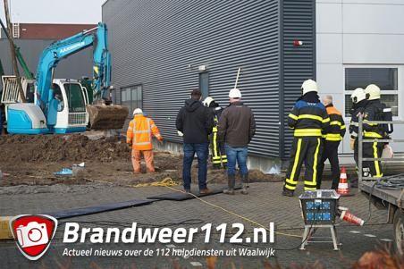 Gaslek bij bedrijf aan de Gompenstraat Waalwijk