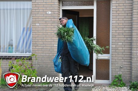 Slaapkamers ingericht als hennepkwekerij aan de Johan Straussstraat Waalwijk