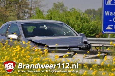 Klein ongeval op de A59 (Maasroute) Waalwijk