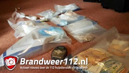 Politie vindt cocaïne en heroïne in Waalwijk
