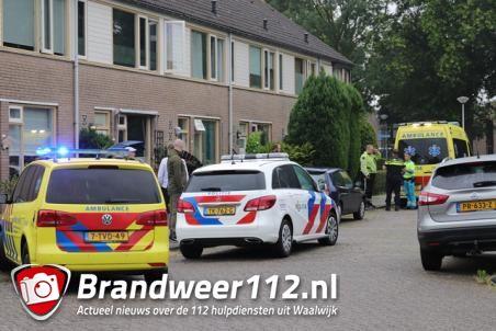 Hulpdiensten rukken uit voor incident in woning aan de Sem Dresdenstraat Waalwijk