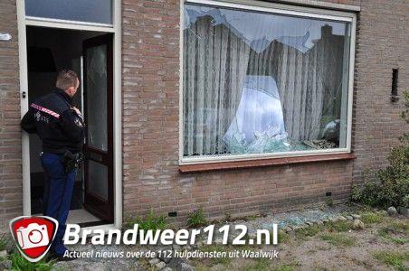 Ramen vernield van woning aan de Prof. Nolenslaan Waalwijk