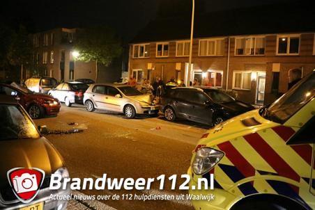 Ravage na ongeval aan de Ds. Louwe Kooymanslaan Waalwijk