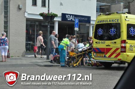 Man gewond na omvallen scootmobiel aan de Stationsstraat Waalwijk